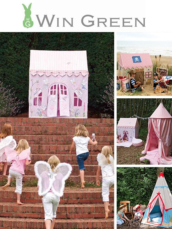 Playhouses, tents and fairy-castles! Treat your (inner) child to the best playtime ever.