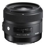 Sigma - 30mm f/1.4 DC HSM (A) Standard Lens for Select Canon EF-S Dslr Cameras - Black
