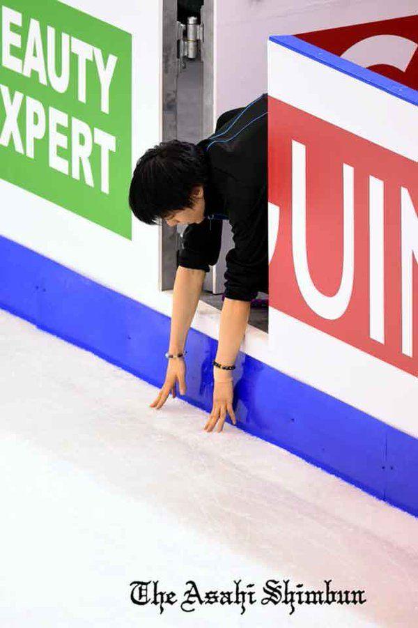 羽生選手公式練習3