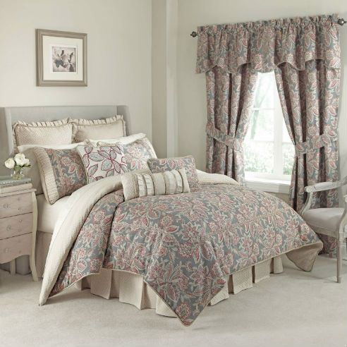 waverly treasure trove 4 piece comforter set the waverly treasure trove reversible comforter set features a color palette and tasteful - Waverly Bedding