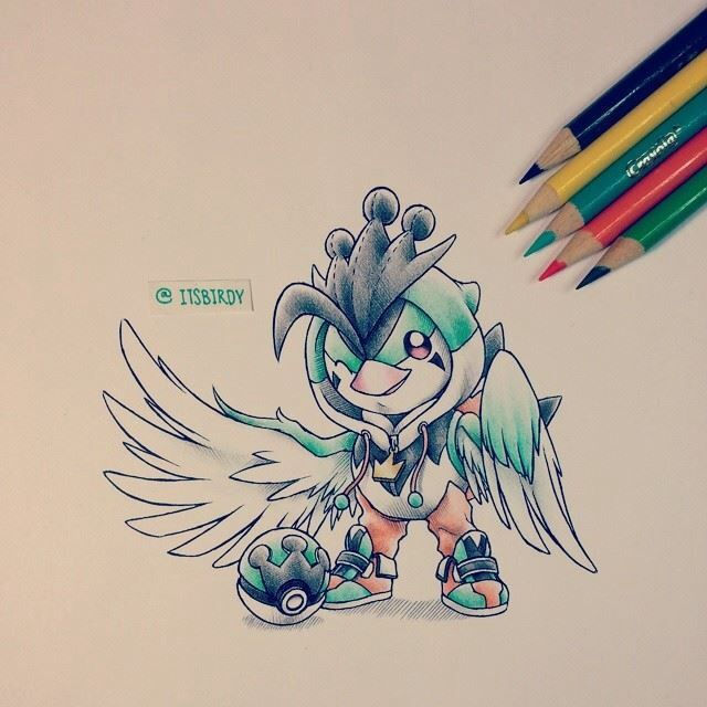 Turquail - this little cutie is an itsbirdy original!
