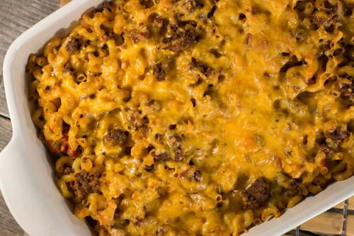 Poor Man's Hamburger Casserole is the perfect dish to whip up when you're on a budget. This easy hamburger casserole does not require much preparation, which makes it a great option for a weeknight dinner.