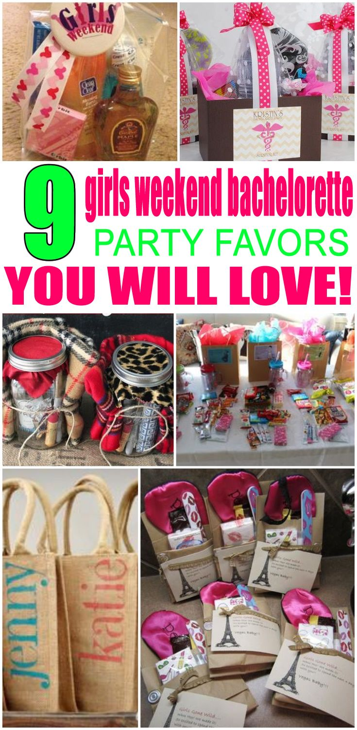 Girls Weekend Bachelorette Party Favors! Get Girls Weekend inspired bachelorette party ideas. Great for bridal showers, weddings and bachelorette party themes! Get DIY ideas & more. Any bride will love these ideas. Find alcohol, bags, hangover kits, survival kits that are classy and go for expensive to cheap. Get cool Girls Weekend wedding theme ideas now!