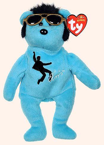 Blue Beanie Shoes - bear - Ty Beanie Babies
