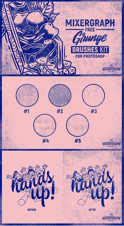 Mixergraph Free Grunge Brushes kit for Photoshop | Graphic | Design