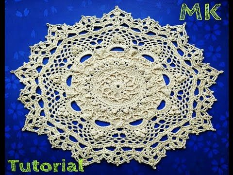 """МК салфетка """"Эмили"""" 4-5 ряды How to crochet doily """"Emily"""" 4-5 rows - YouTube"""