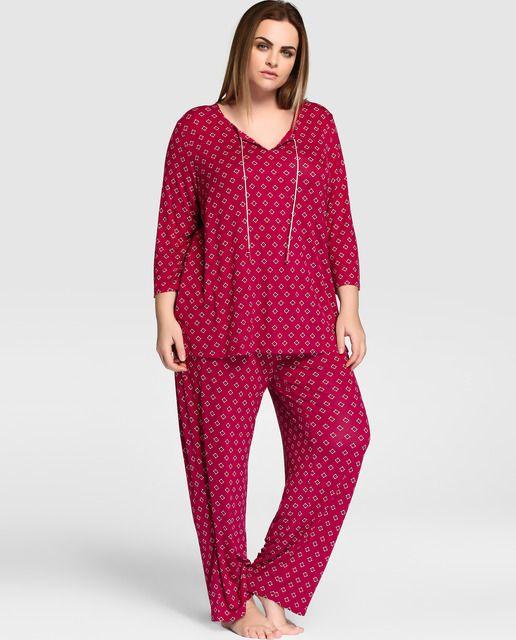 Pijama de tallas grandes de Lazo Plus largo