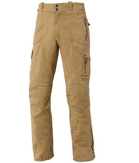 Pantalón Jeans Hombre Held Trader Canvas Jeans de motorista. Robusta lona de algodón. Forro de algodón (100% algodón). 6 bolsillos exteriores. Protectores de cadera. Protectores regulables en altura en rodillas SAS-TEC® Slim-Line homologación EN 1621-1.Refuerzo en fibra DuPont™ KEVLAR® en  trasero, caderas, muslos y rodillas. Color: arena