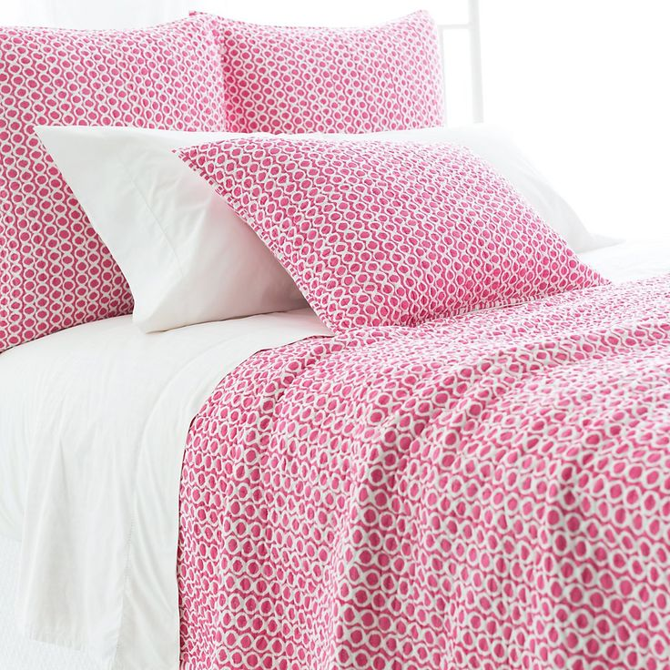 Tyler Fuchsia Quilted Bedding design by Pine Cone Hill