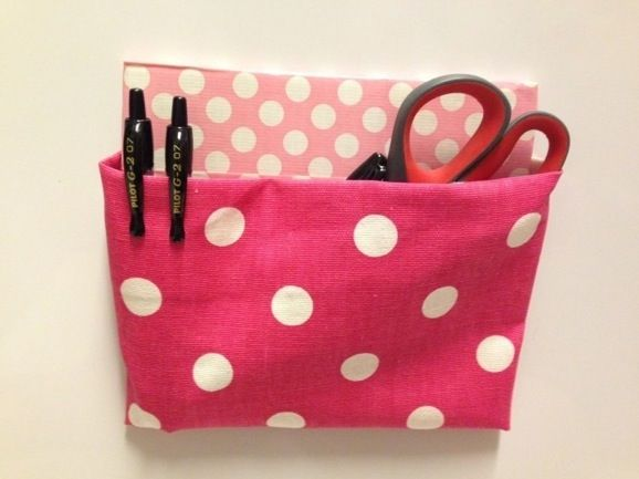 Make a magnetic locker pouch - no-sew fabric project!