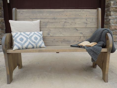 Ana White | Church pew style entry bench – DIY Projects #WoodworkingBench