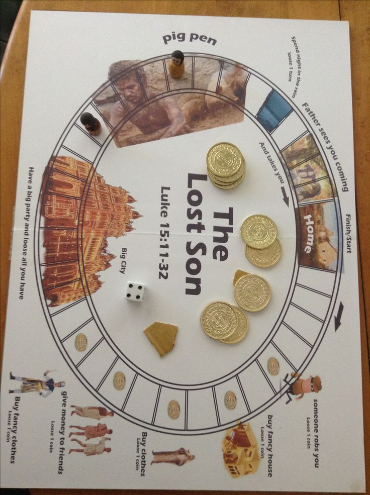 The lost son game! We could do this as a life size game where they have to give us money in return for new clothes or other things. Then, they lose all of their money and still have to play the game. we could use the dice to take turns to each station, but it could be in only English.