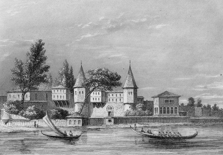 İstanbul, Tarihi Yarımada ve Topkapı Sarayı Steel engraving by Ch. Lalaisse after Fleury ca 1860.