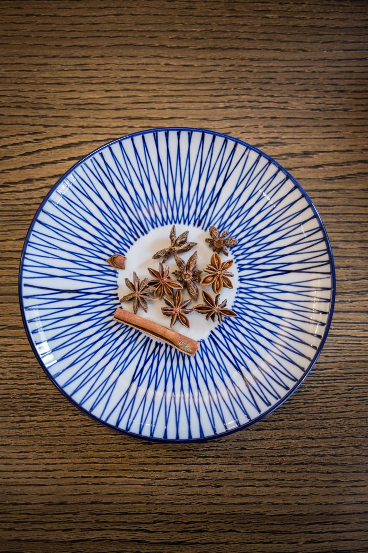 Set of plates with various blue stripes is a design and functional addition not only to the kitchen.
