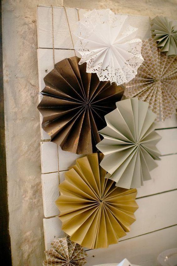 Las 25 mejores ideas sobre decoraciones abanico de papel - Decoraciones de papel ...