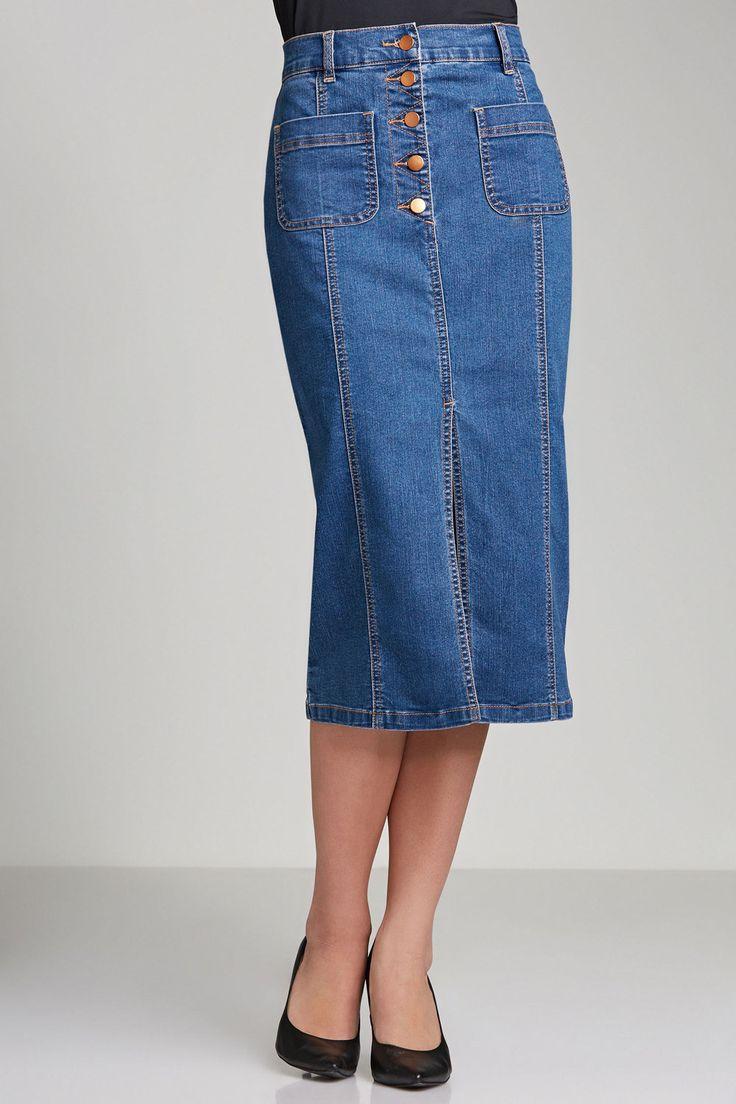 Capture Denim Skirt Online | Shop EziBuy