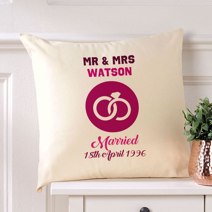 Wedding Anniversary personalised cushion.Beautiful 💕 Personalised Word Cushions & Pillows. Easy to Create & Preview On Screen Before You Buy. Fast Free Delivery. A perfect gift for any occasion. www.chatterboxwalls.co.uk  #wordart #typography #personalisedcushions #cushions #interiordesign