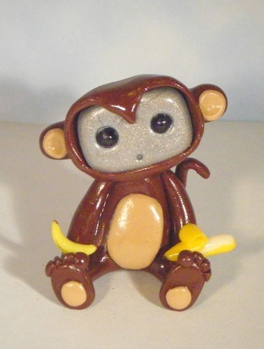 Robot in a monkey costume. $13.00 USD, via Etsy by sleepyrobot13    He looks confused and adorable