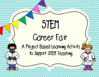 """This pack will help introduce students to STEM careers! This project based learning activity includes teacher suggestions and resources, student research sheets, project/writing planning worksheets, and materials to conduct a mock """"career fair"""". This project can easily incorporate Reading/ELA standards and skills."""