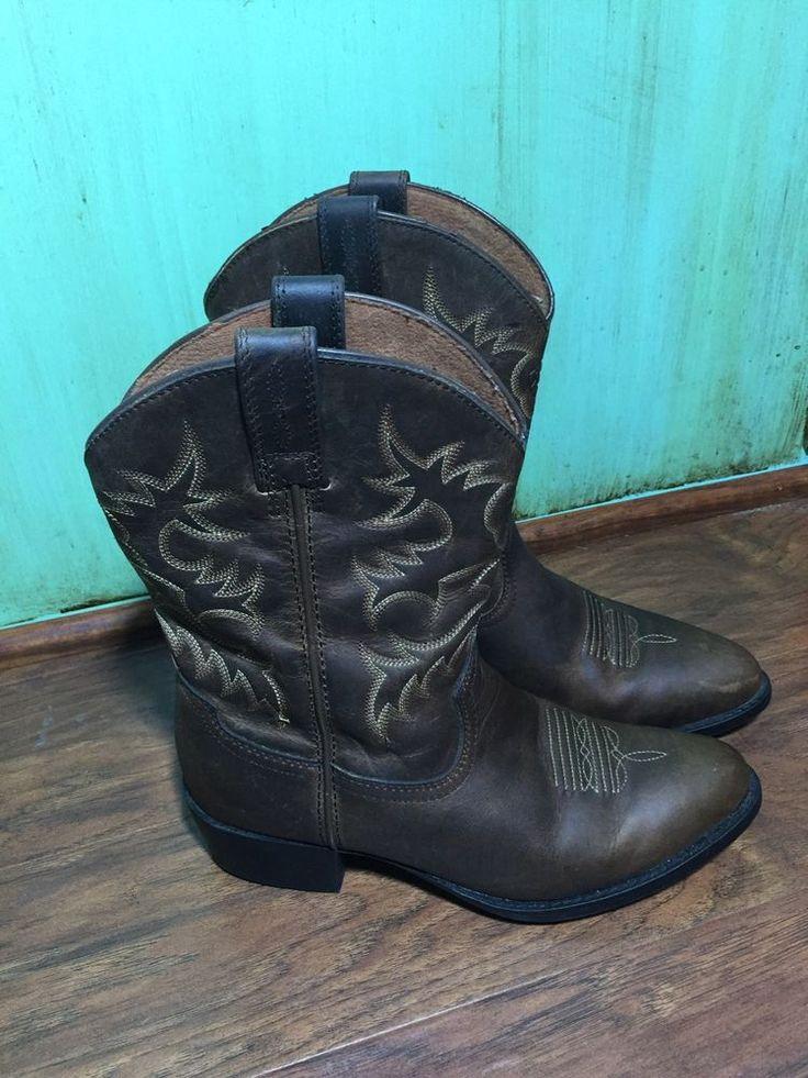 Ariat Kids Western Boots Legend Cowboy Brown Oiled Size 3 Kids | eBay