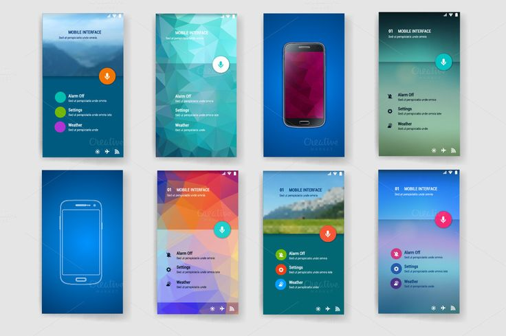 User interface(ux,ui)screen template by DikayaMiau on Creative Market