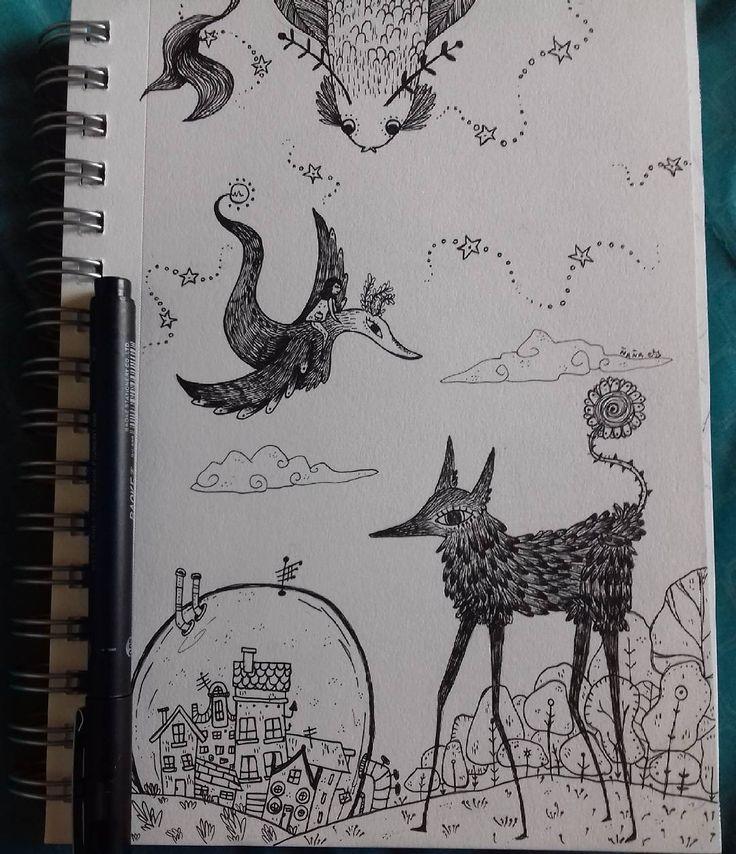 """66 Me gusta, 1 comentarios - Ñaña (@ferniska) en Instagram: """"#wip #workinprogress #lineart #linea #art #arte #artwork #doodle #doodling #draw #boceto #dibujo…"""""""