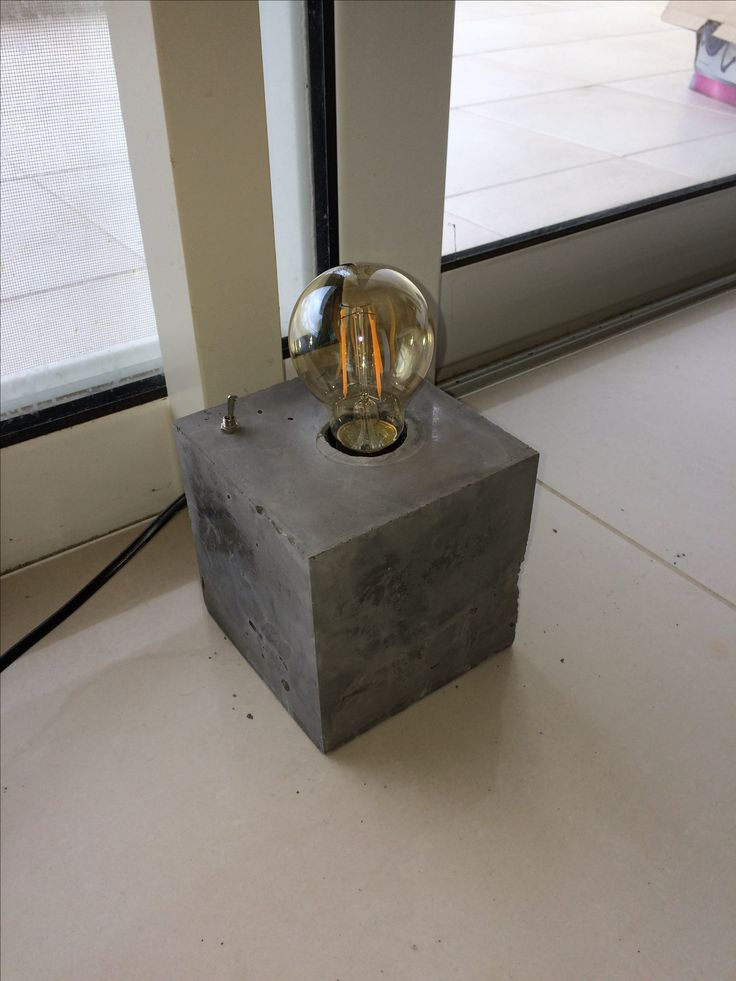 Concrete Edison Lamp. DIY.