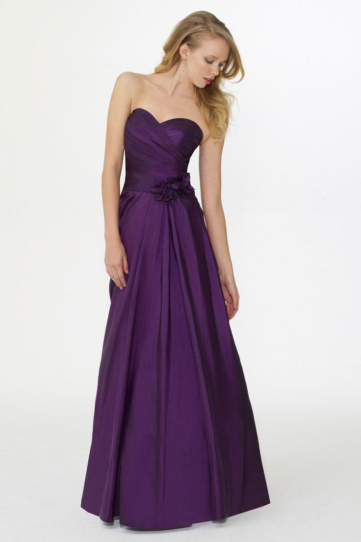 100 ideas to try about wedding color ideas purple a line sweetheart satin flowers bridesmaid dress ombrellifo Image collections