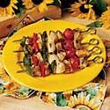 Grilled Kabobs | Taste of Home Recipes  -- Here is a site to give you all kinds of ideas for grilled shish kabobs:  Chicken, Fish, Beef, Pork, Vegan .... Take your pick, and mix and match flavors.