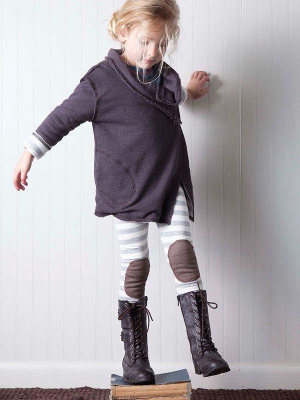 The DOWN N' DIRTY - knee patch leggings