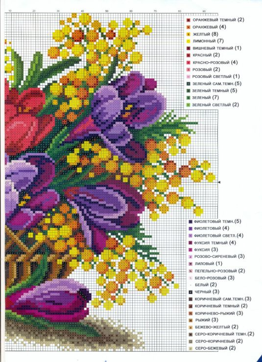 Gallery.ru / Photo # 18 - flowers, embroidery schemes from the Internet - poodel