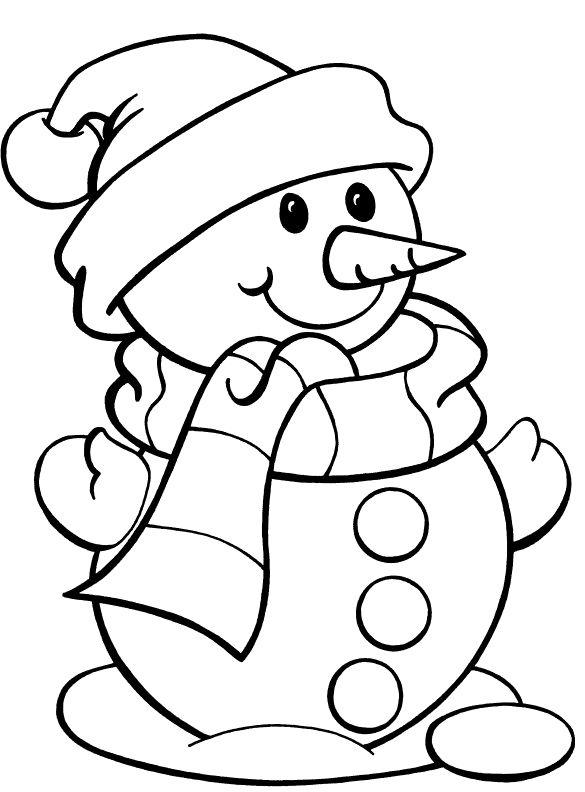 winter line art