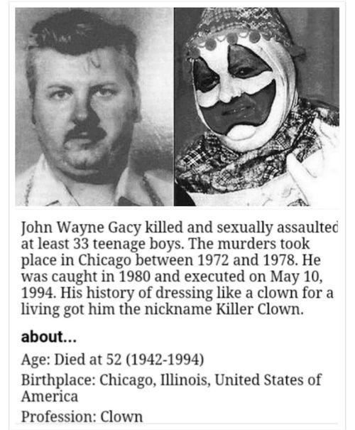 fact, history,  clown                                                       …
