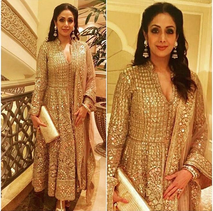 Lovely sparkling ✨ gold outfit... by abujani and sandeep khosla