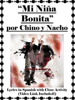 "Song lyrics and activity for ""Mi Nina Bonita"" by Chino y Nacjo"