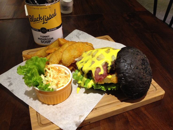 Black Burger from Blacklisted Coffee