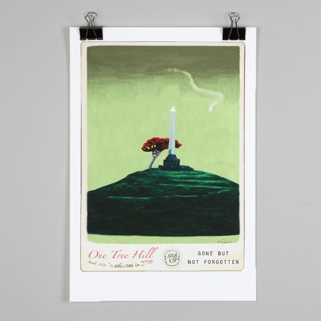 One Tree Hill Print by Marika Jones | NZ Art Prints & Poster Store | endemicworld.com