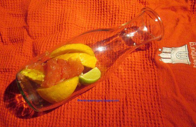 Hamburg kocht!: Infused Water mit rosa Pampelmuse, Apfelsine und L...