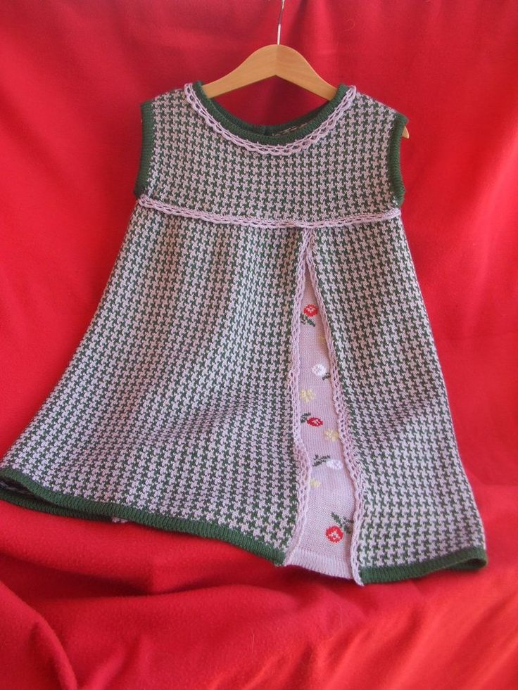 abito in maglia ricamato vestito bimba, by maglieria magica, 35,00 € su misshobby.com