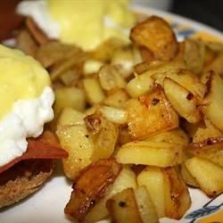 This is the best home fries recipe I've tried! Just beware of the heat settings cause one side burnt a little, because I was on high heat it only took about 15 min to cook. Otherwise, these were super easy and delicious!