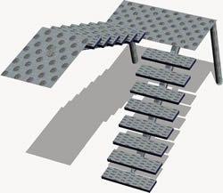 17 mejores ideas sobre escaleras metalicas exteriores en for Planos de escaleras en u