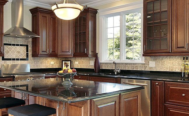 Backsplash that goes with black granite google search for 4x4 kitchen ideas