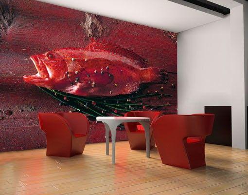 selbstklebende tapete fototapete red snapper kchentapeten kche kitchen - Kchen Tapeten Modern