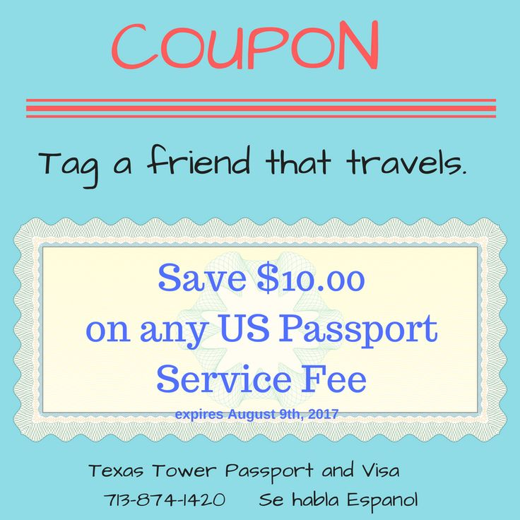 Tag someone that would love to save $10 on their US passport fees! #travel #passport #coupon