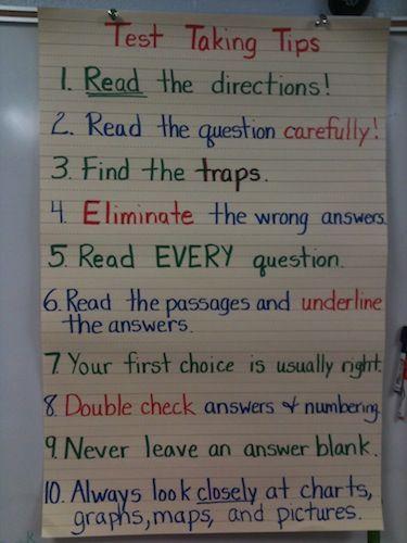 essay on test taking strategies
