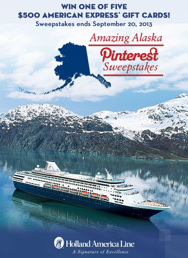 Glaciers, waterways and wildlife. Experience Alaska's amazing range of activities with Holland America Line. Pin your favorite Alaska shore excursion image and you could win one of five $500 American Express Gift Cards. Enter now: https://www.facebook.com/HALCruises/app_363845683737502