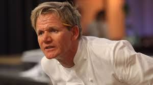Gordon Ramsay cooking with passion