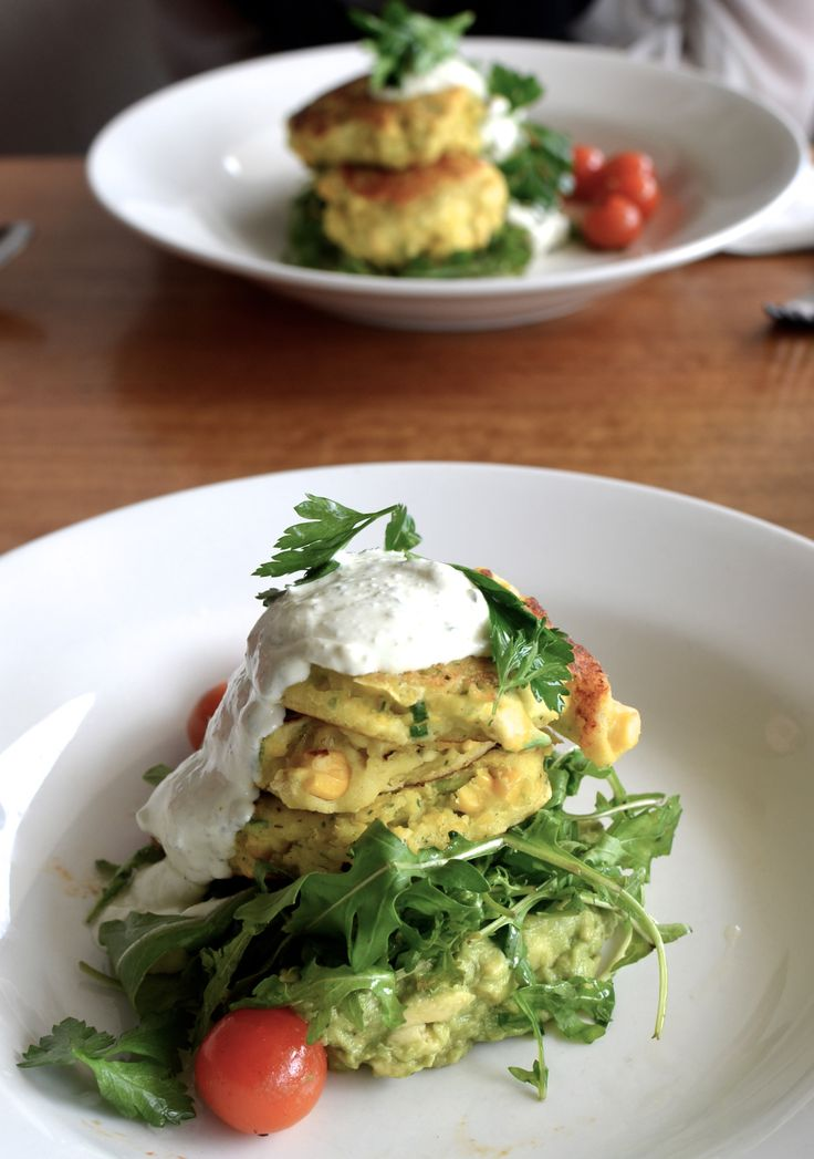 GF corn and ricotta fritters, found at Forty Seven Kirwan Street. #food #healthy