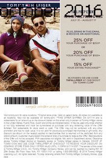 Printable Coupons: Tommy Hilfiger Coupons                                                                                                                                                                                 Más