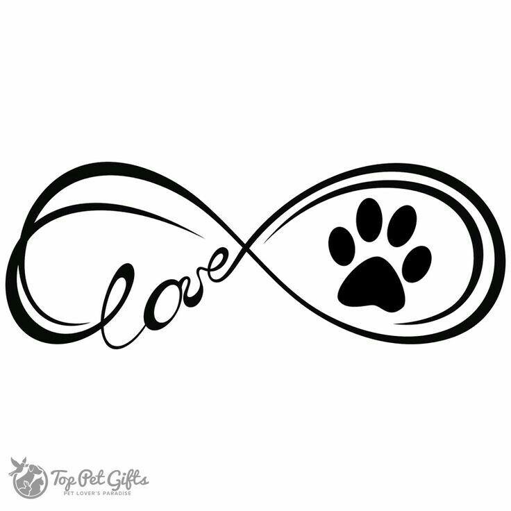 Dog paw print infinity